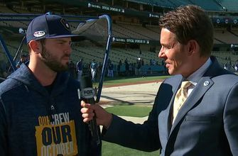 Mike Moustakas explains the Brewers' approach to the postseason - and to NLCS Game 4 in particular