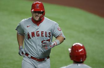 Mike Trout homers on birthday, but Rangers hold on late, 4-3 over Angels