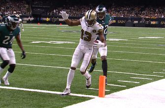 Drew Brees finds Michael Thomas for 23-yard touchdown as Saints stomp Eagles