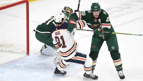 Wild strike late to sink another Oilers comeback attempt in high-flying affair