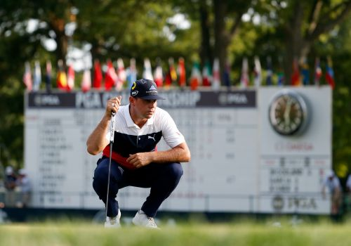 Woodland in front at PGA, with plenty of big names in mix
