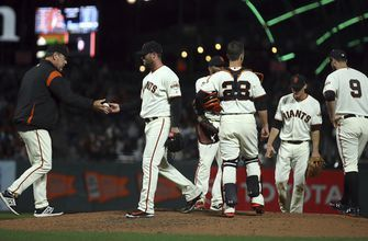 Giants' Strickland apologizes after temper lands him on DL