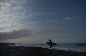 Surfers test waves ahead of sport's Olympic debut at Tokyo