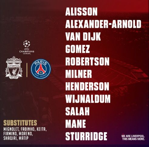 Firmino benched for PSG visit after eye poke; Sturridge called in