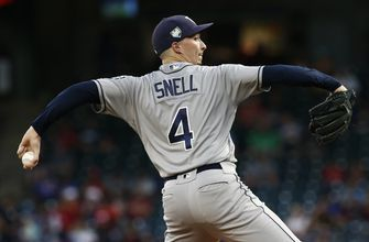 Snell wins 20th, ties Rays record in 4-0 victory over Texas