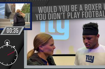 Saquon Barkley talks to Shannon Spake about OBJ's dance moves, what he was almost named, and more