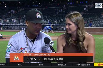 Starlin Castro sits down with Jessica Blaylock after 9th inning comeback win