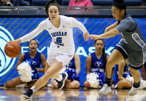 Bench play sparks BYU women's basketball to 10th-straight win, 79-71, over Portland