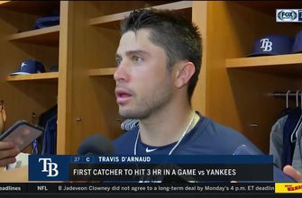 Travis d'Arnaud breaks down his 3-home run night after thrilling win over Yankees