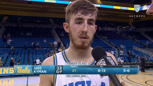 Bruins' Jake Kyman talks career-high 21 points after exciting finish at Pauley Pavilion
