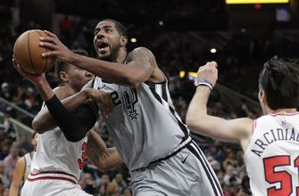 Spurs led at halftime, lose to Bulls 98-93