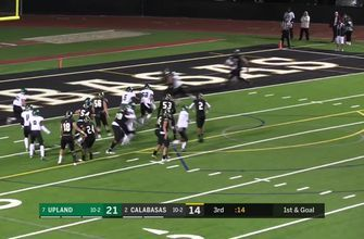 Playoffs, Semifinals: Calabasas ties it with a 5-yard touchdown pass to Mycah Pittman
