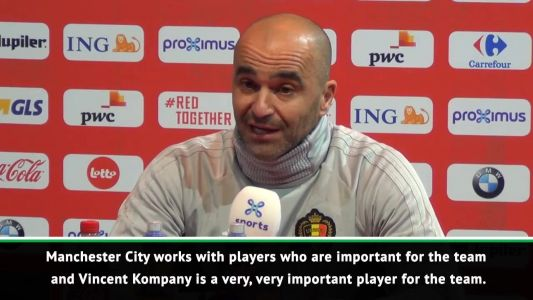 Martinez backs Kompany and Courtois