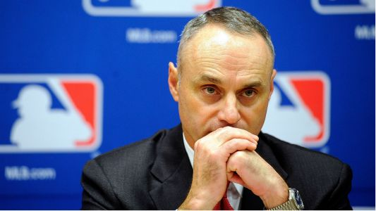 MLB commissioner Rob Manfred addresses pitch clock, payroll concerns