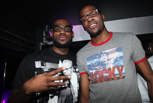 LeBron James & Kevin Durant Played Football, Made a Song and Hooped in 2011