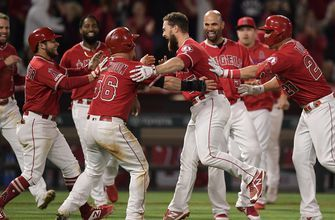 Calhoun rallies Angels past Rangers 3-2 to snap 5-game skid