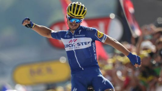 Tour de France 2018: Julian Alaphilippe is toast of homeland, but Greg Van Avermaet increases lead