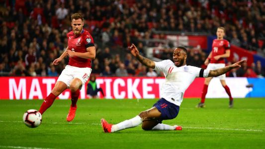Sterling nets hat trick as England breeze past Czech Republic in Euro qualifier