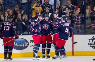 Korpisalo's 29 saves, top line's 3 goals lift Blue Jackets to 4-1 win over Devils