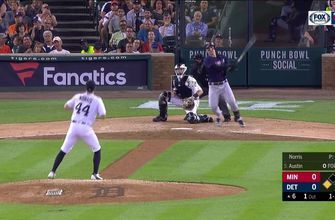WATCH: Twins' Austin drives in three runs against Tigers