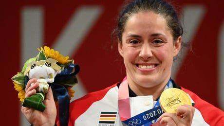 Maude Charron shares weightlifting gold with Canadian denied triumph in 2012