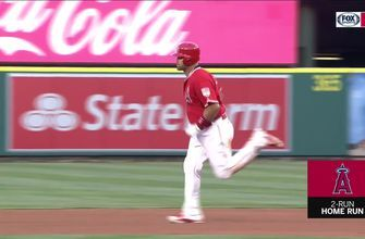 HIGHLIGHTS: RBI Double for Trout and a Two-Run Home Run for Pujols