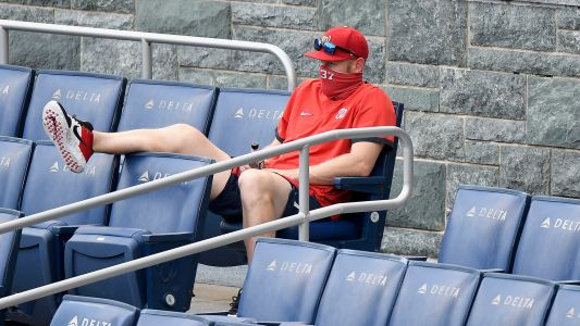 Stephen Strasburg got ejected while sitting in the stands after arguing with umpire