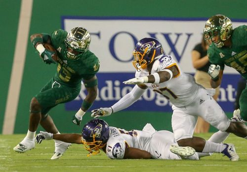 Cronkrite's 80-yard TD run helps USF beat ECU 20-13