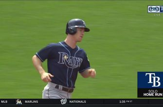 MUST WATCH: Joey Wendle and C.J. Cron both go deep against Red Sox