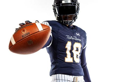Notre Dame unveils 'baseball' uniform for Stadium game