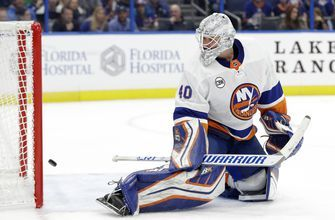 Vasilevskiy, Johnson key Lightning's 4-2 win over Islanders