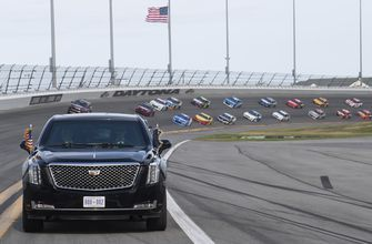 Daytona 500 resumes without president, pomp or packed house