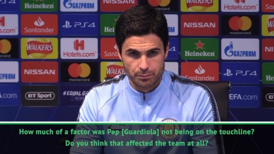 Arteta refuses to blame Man City's defeat on Guardiola's ban