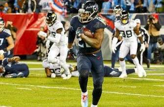 Derrick Henry tosses three Jaguars defenders aside during NFL-record 99-yard TD run