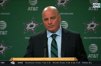 Jim Montgomery on the playoff intensity, Stars win over Blues