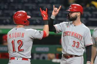 Tyler Naquin homers, drives in four as Reds erupt for 14-1 win over Pirates