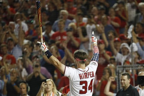 Bryce Harper thrills home crowd with Home Run Derby victory