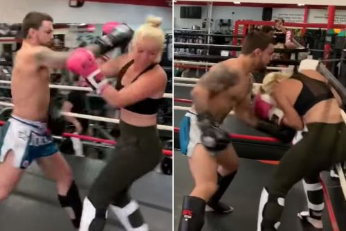 Controversial UFC fighter Mike Perry levels tennis star girlfriend in sparring video