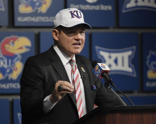During time off, new KU football coach Les Miles thought about adapting offensively