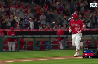 Mike Trout moves into a tie for the major league lead with his 14th homer of the year