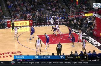 HIGHLIGHTS: Nice Slip Pass to Steven Adams for the Slam   OKC Thunder at LA Clippers