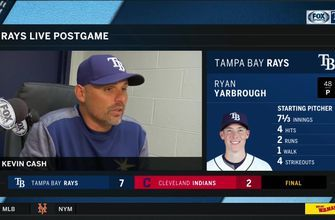 Kevin Cash discusses Ryan Yarbrough's return, Rays' offense after 7-2 win in Cleveland