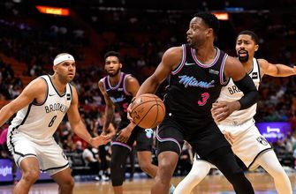 Dwyane Wade's return overshadowed by Heat's shooting woes in loss to Nets