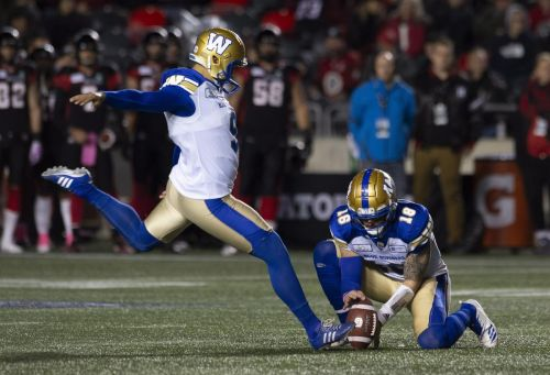 Veteran kicker Medlock hopes to give Bombers a boost against Stampeders