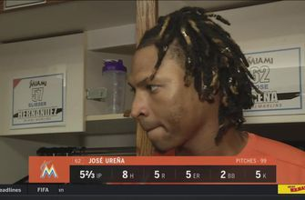 Jose Urena on his start, base-running gaffe