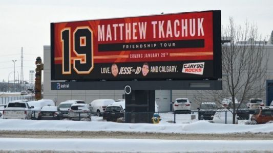 Tkachuk billboard goes up in Edmonton