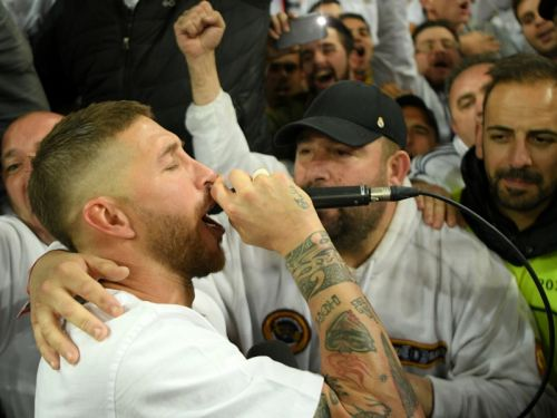 Real Madrid star Ramos makes rap debut