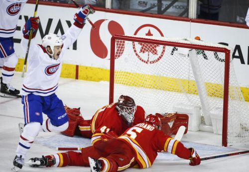 Flames blow lead against Habs in third period