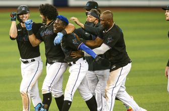Marlins walk-off on Jorge Alfaro's two-run double in extras, beat Giants 7-6