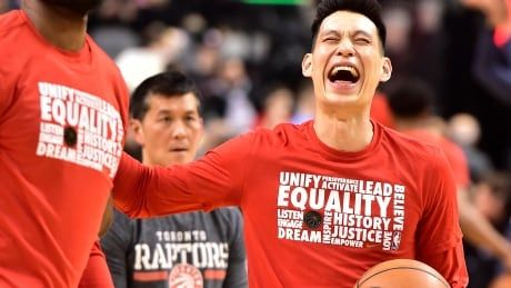 New Raptor Jeremy Lin shows he's got game off the court as well